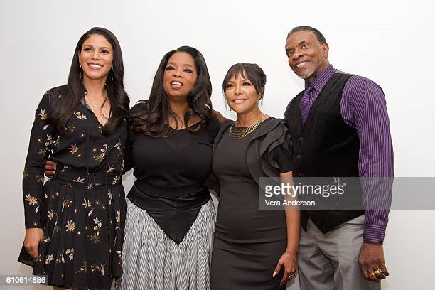 Merle Dandridge Oprah Winfrey Lynn Whitfield and Keith David at the 'Greenleaf' Press Conference at the Four Seasons Hotel on September 26 2016 in...