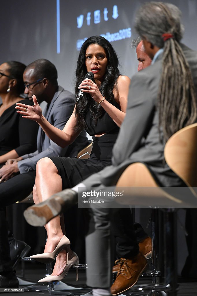 Merle Dandridge speaks on stage at the Tribeca Tune In: Greenleaf at BMCC John Zuccotti Theater on April 20, 2016 in New York City.