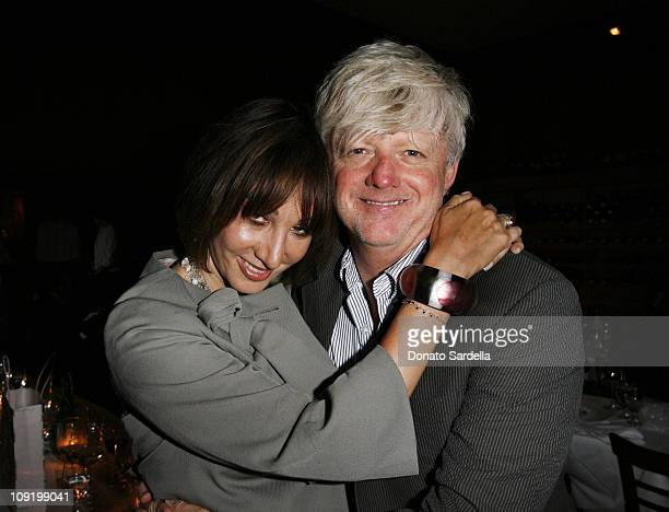 Merle Ginsberg and Robert Erdmann during Self Magazine Dinner for New Entertainment Director Laura Brounstein at Il sole in West Hollywood California...