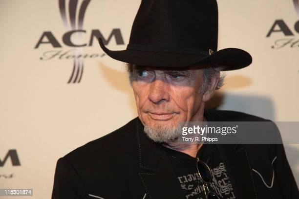 Merle Haggard arrives at the 2nd Annual ACM Honors at the Schermerhorn Symphony Center on September 22, 2009 in Nashville Tennessee.