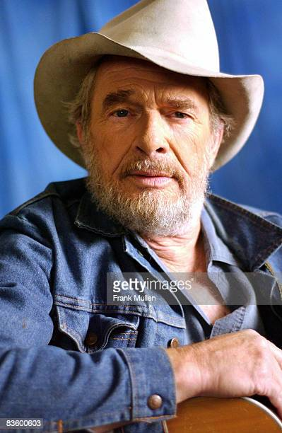 Merle Haggard on the set of the video shoot for Marty Stuart's Farmer's Blues