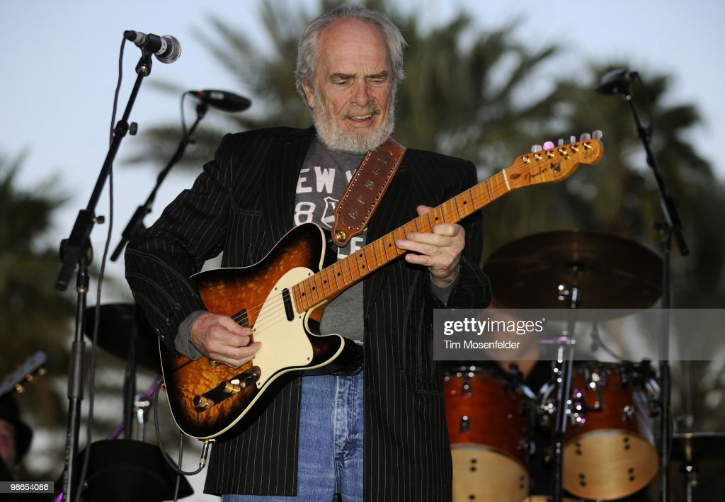 Merle Haggard performs as part of the Stagecoach Music Festival at the Empire Polo Fields on April 24, 2010 in Indio, California.