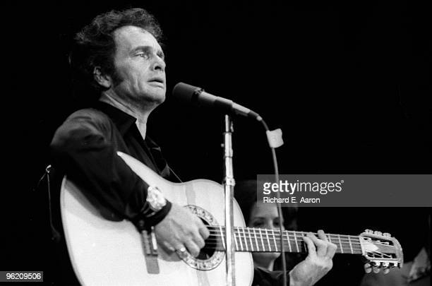 Merle Haggard performs live on stage in New York in 1978