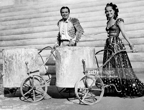 Merle Oberon and Douglas Fairbanks cofounder of United Artists Film Corp appearing in 'The Private Life Of Don Juan' directed by Alexander Korda for...
