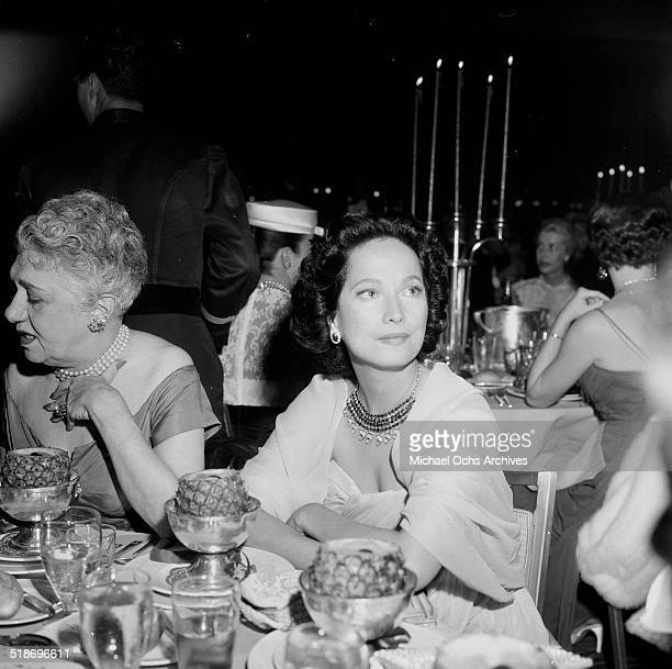 Merle Oberon attends the Friars Dinner in Los AngelesCA