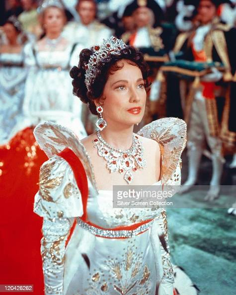 Merle Oberon British Actress In Period Costume With A
