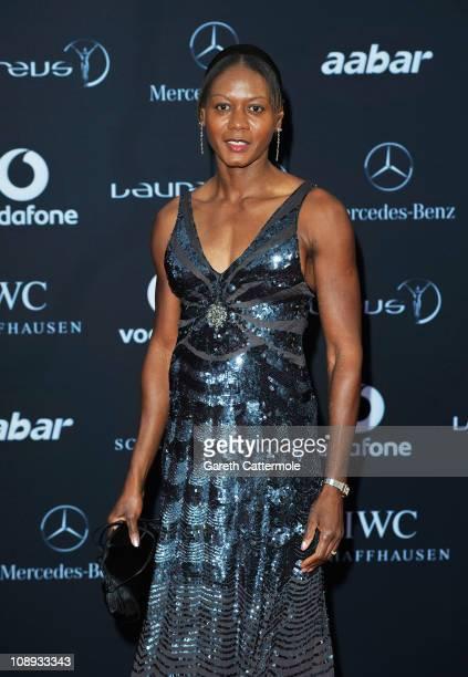 Merlene Ottey attends the 2011 Laureus World Sports Awards at the Emirates Palace on February 7, 2011 in Abu Dhabi, United Arab Emirates.