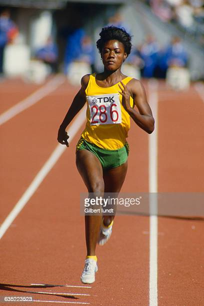 Merlene Ottey from Jamaica competes at the 1983 World Championships