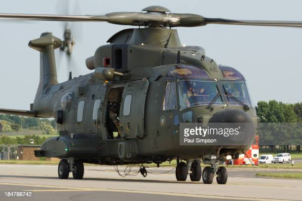 Merlin helicopter seen here at the 2013 RAF Waddington airshow in the UK