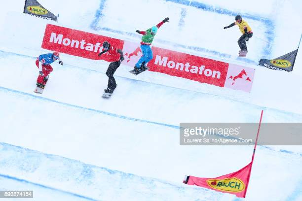 Merlin Surget of France competes Adam Lambert of Australia competes Hagen Kearney of USA competes Lucas Eguibar of Spain competes during the FIS...