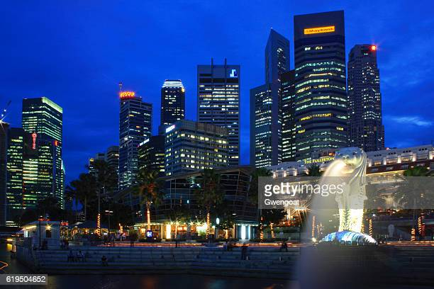 Merlion by twilight