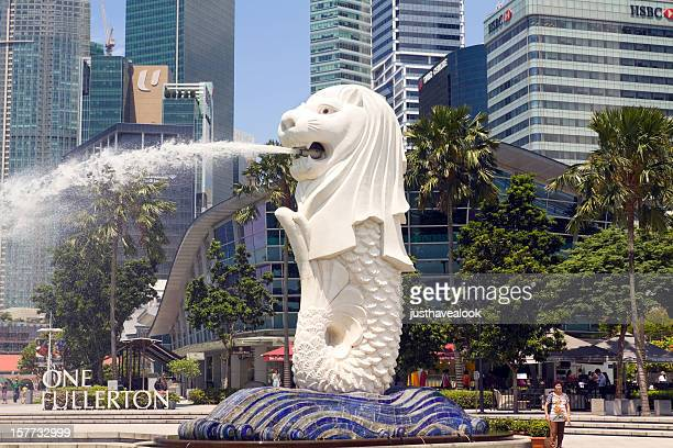 merlion of singapore - merlion stock pictures, royalty-free photos & images