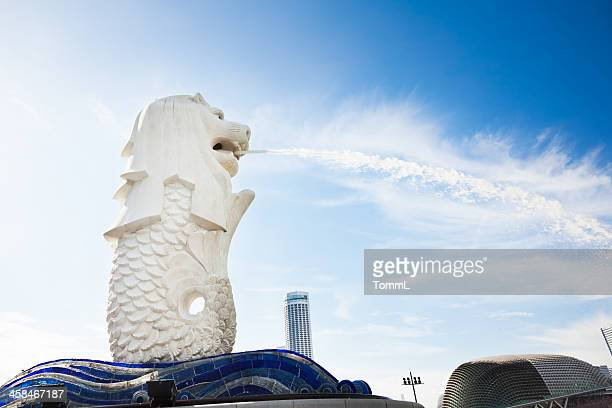 merlion statue, singapore - merlion stock pictures, royalty-free photos & images