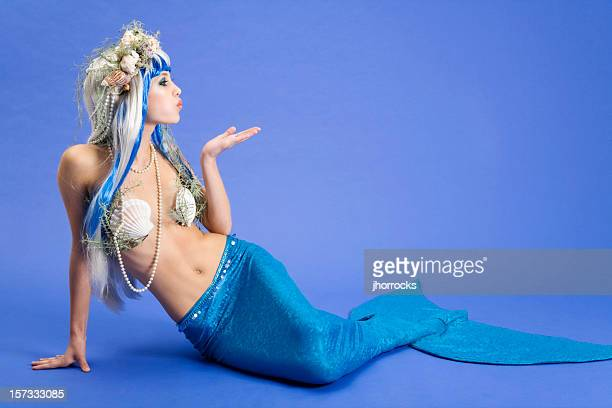Mermaid Blowing a Kiss