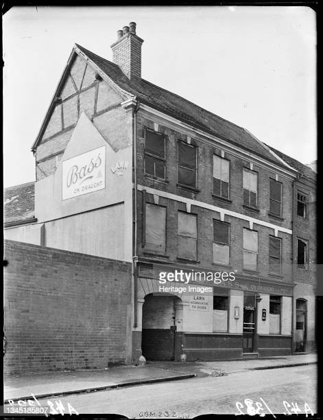 Mermaid Inn, Gosford Street, Coventry, 1941. The Mermaid Inn at 109 Gosford Street. The windows of the public house are boarded, probably as a result...
