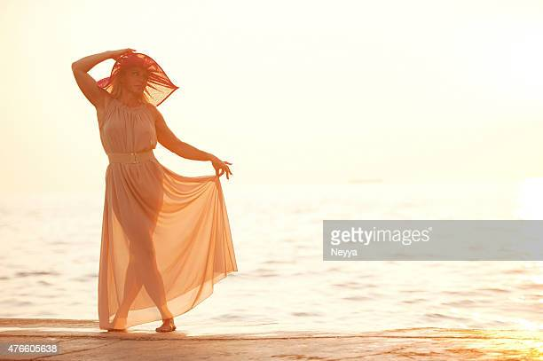 mermaid - women in see through dresses stock photos and pictures