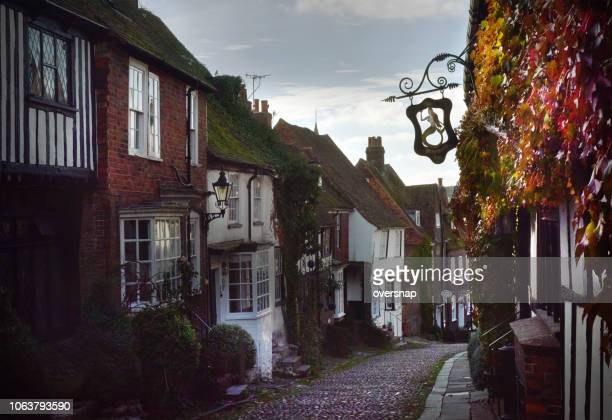 mermaid street, rye - inn stock pictures, royalty-free photos & images