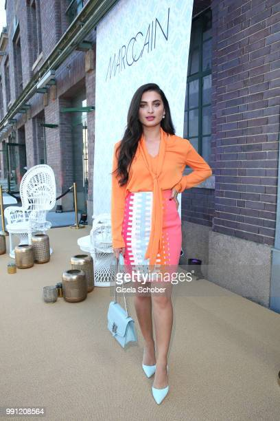 Merna Hermez during the Marc Cain Fashion Show Spring/Summer 2019 at WEEC Westhafen on July 3 2018 in Berlin Germany
