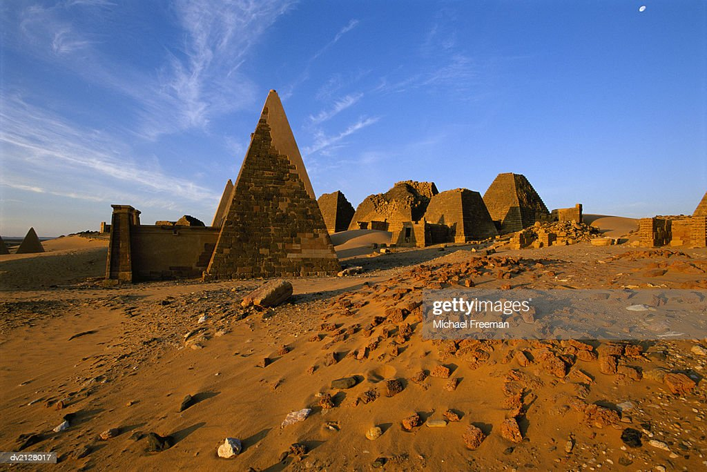 Meroe Pyramids, Meroe, Sudan, Africa : Stock Photo