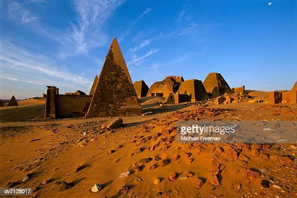 Meroe Pyramids, Meroe, Sudan, Africa