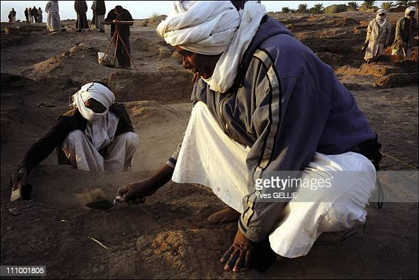 Merowe dam a new archeological challenge in the Nile Valley in Sudan in July 2004Excavations lead by Charles Bonnet's team in Doukki Gel one km off...