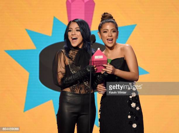 Merrell Twins onstage during the 2017 Streamy Awards at The Beverly Hilton Hotel on September 26 2017 in Beverly Hills California