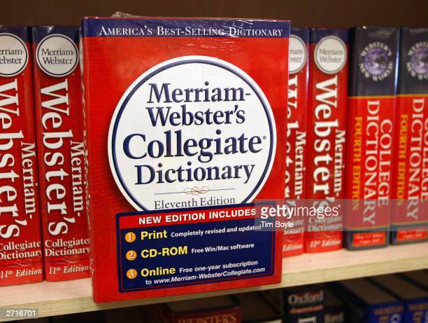 MerriamWebster's Collegiate Dictionary is displayed in a bookstore November 10 2003 in Niles Illinois McDonald's said it is not happy with the word...