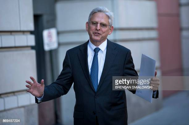 Merrick Garland, former US Supreme Court nominee, walks to the US District Court for DC November 2, 2017 in Washington, DC.