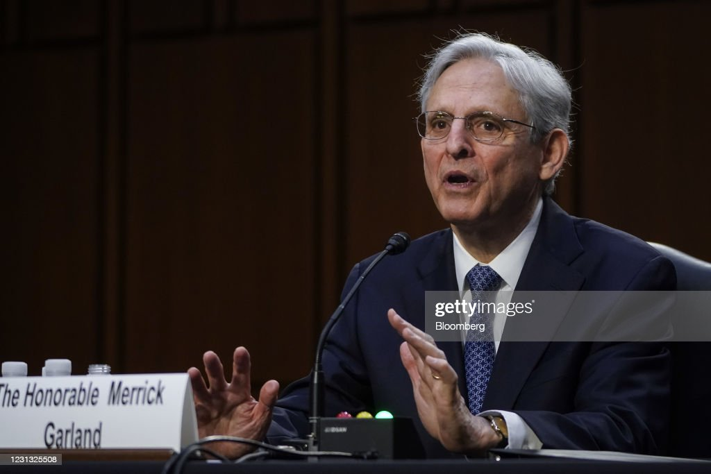 Merrick Garland Confirmation Hearing To Be Attorney General Before Senate Judiciary Committee : News Photo
