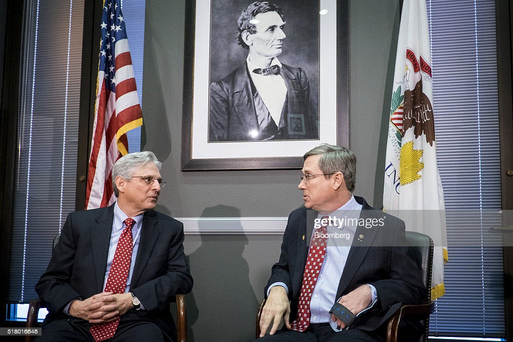Supreme Court Justice Nominee Merrick Garland Meets With Illinois Republican Senator Mark Kirk