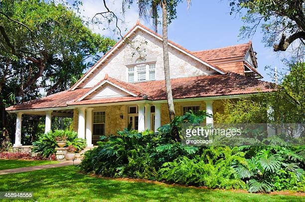 merrick house in coral gables, fl - coral gables stock pictures, royalty-free photos & images