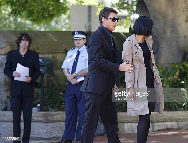 Merrick Watts during Belinda Emmett Funeral Service at Mary Immaculate Church in Sydney New South Wales Australia
