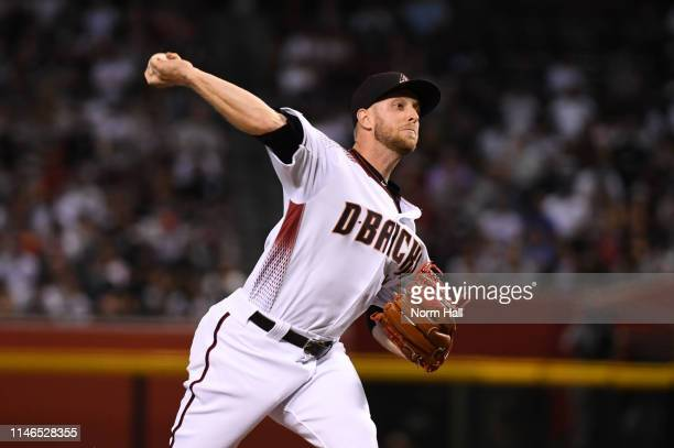 Merrill Kelly of the Arizona Diamondbacks delivers a first inning pitch against the New York Yankees at Chase Field on May 01 2019 in Phoenix Arizona