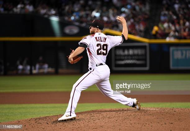 Merrill Kelly of the Arizona Diamondbacks delivers a second inning pitch against the New York Yankees at Chase Field on May 01 2019 in Phoenix Arizona