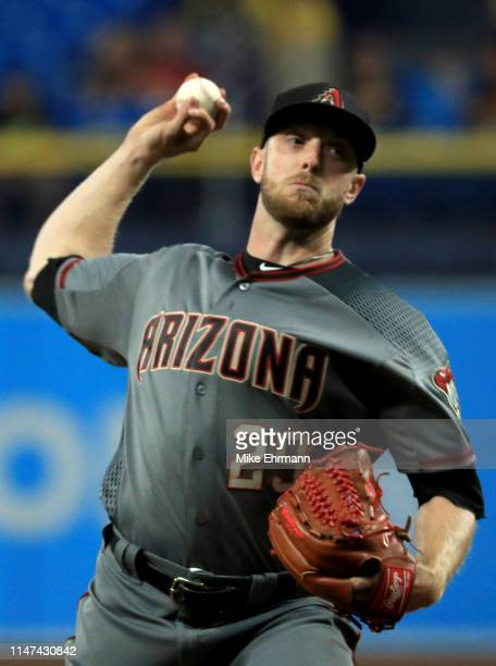 Merrill Kelly of the Arizona Diamondbacks pitches during a game against the Tampa Bay Rays at Tropicana Field on May 06 2019 in St Petersburg Florida
