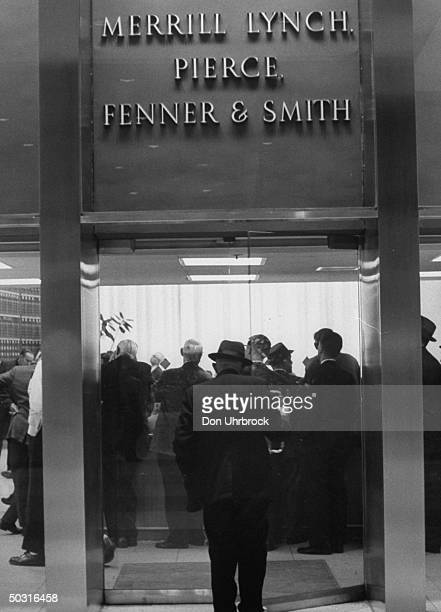 Merrill Lynch Pierce Fenner and Smith's office during the market drop
