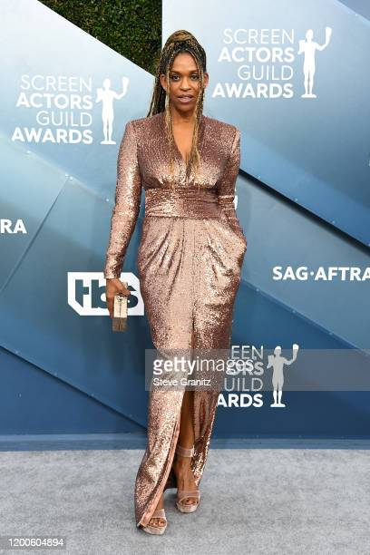 Merrin Dungey attends the 26th Annual Screen ActorsGuild Awards at The Shrine Auditorium on January 19 2020 in Los Angeles California