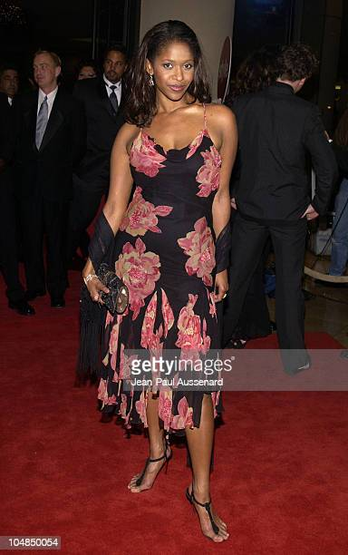 Merrin Dungey during Fourth Annual Hollywood Makeup Artists and Hairstylists Guild Awards at Beverly Hilton Hotel in Beverly Hills California United...