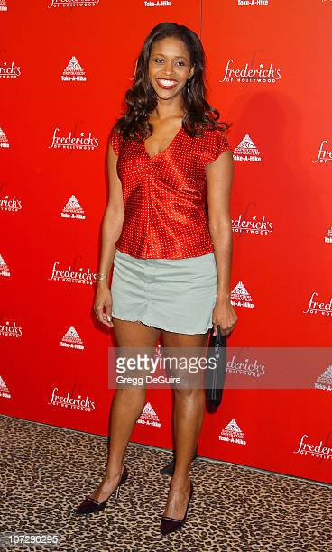 Merrin Dungey during Smashbox Fashion Week Los Angeles Frederick's of Hollywood Fashion Show Fall 2003 Collection to benefit Expedition Inspiration...