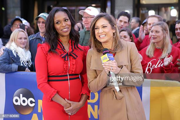 """Merrin Dungey is a guest on """"Good Morning America,"""" Thursday, November 10 airing on the Walt Disney Television via Getty Images Television Network...."""