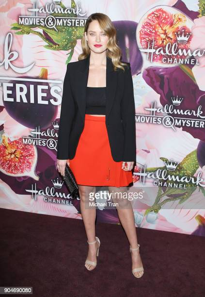 Merritt Patterson arrives to the Hallmark Channel and Hallmark Movies and Mysteries Winter 2018 TCA Press Tour held at Tournament House on January 13...