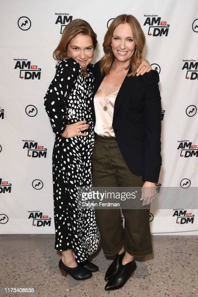 Merritt Wever and Toni Collette visit Buzzfeed studios on September 09 2019 in New York City
