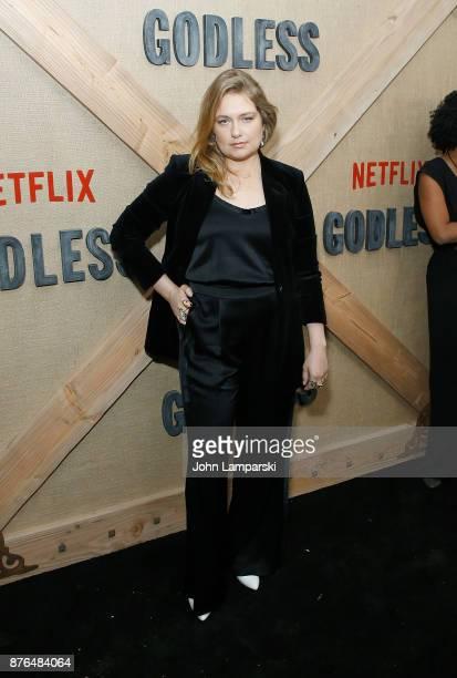 Merritt Wever attends 'Godless' New York premiere at The Metrograph on November 19 2017 in New York City