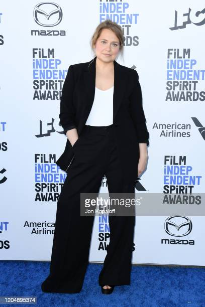 Merritt Wever attends the 2020 Film Independent Spirit Awards on February 08, 2020 in Santa Monica, California.
