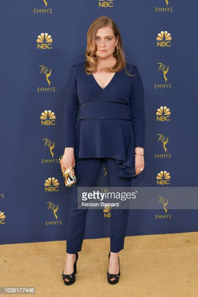Merritt Wever attends the 70th Emmy Awards at Microsoft Theater on September 17 2018 in Los Angeles California
