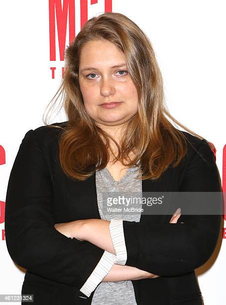 Merritt Wever attends the MeetNGreet for the MCC Theater production of 'The Nether' at the MTC Rehearsal Studios on January 9 2015 in New York City