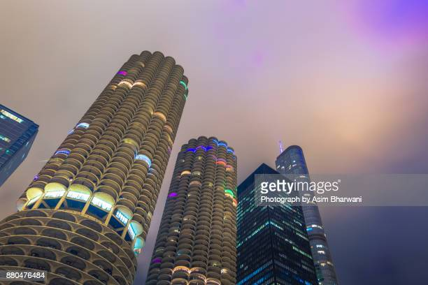 a merry chicago - trump chicago stock photos and pictures