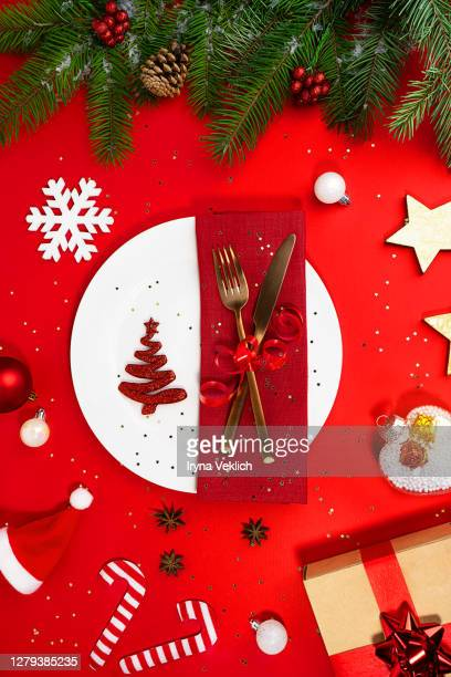 merry christmas and happy new year food concept. - 台所用品店 ストックフォトと画像