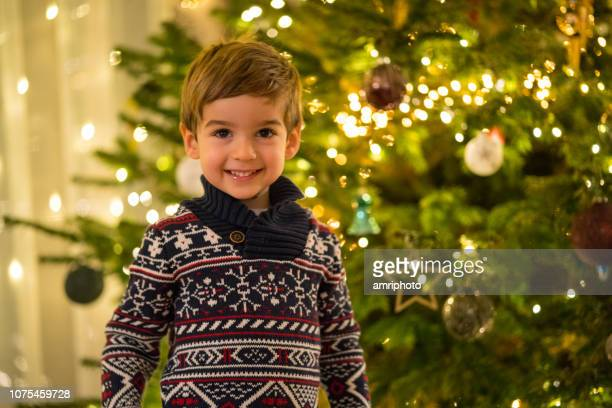merry christmas little boy - children only stock pictures, royalty-free photos & images