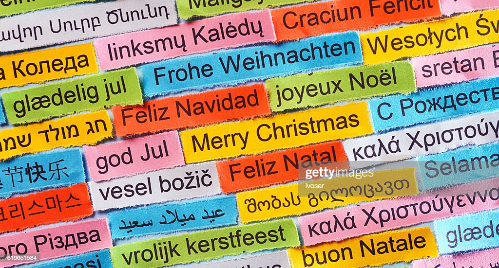 Merry Christmas In Different Languages.Merry Christmas On Different Languages Stock Photo Getty
